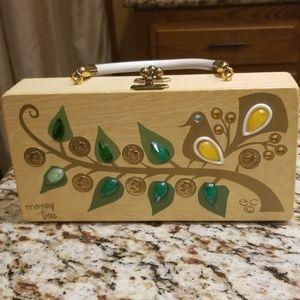 "Enid Collins ""Money Tree"" wooden vintage purse box"